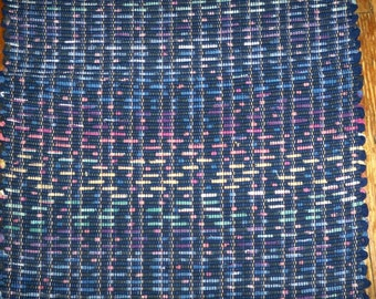 Handmade Rag Rug, Recycled Fabric, Multi (Inv ID #06-1061)