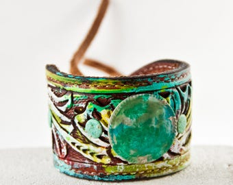 Leather Cuff Bracelets For Women Holiday Shopping