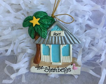 Personalized Florida beach house ornament