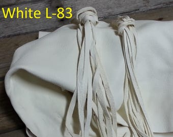White Deer Buckskin - Lacing, Half and Full Hides - Stock No. L-83