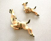 Deer Wall Hangings // Vintage