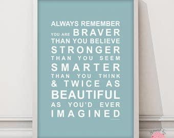 Always Remember Bus Roll - Typography Wall Art Print