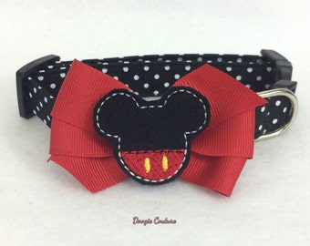 Mickey Inspired Dog Collar Size XS through Large by Doogie Couture Pet Boutique