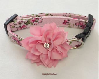 Summer Savor Floral Dog Collar Size XS through Large by Doogie Couture Pet Boutique