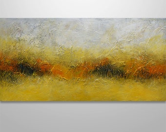 "Abstract Painting Acrylic Original Modern Heavy Textured Painting 3D Art by Gabriela Modern Abstract Painting wall decor landscape 48""x24"""