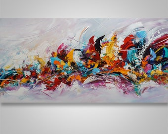 Abstract Painting, Palette Knife Painting, Abstract Wall Art, Home decor, Modern Painting, Art, Acrylic, Wall Art, Canvas Art, Catalin Art