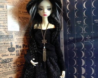 Dark of the Moon Witch Outfit for MSD BJD