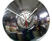 VW Bug Clock - Volkswagen Beetle Hubcap - Retro Volkswagon - VW Bus Hub Cap - Classic Car Wall Decor