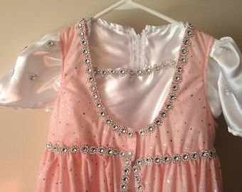 Pink 2pc princess dress size 8