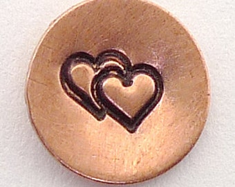Metal Steel Stamps DOUBLE HEART Design Stamp Jewelry Stamping - The Urban Beader