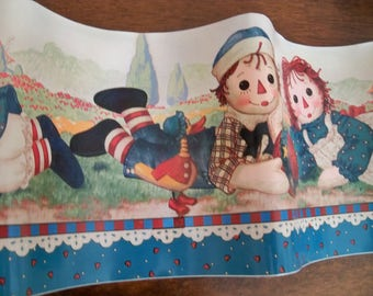 raggedy Ann and Andy peel and stick