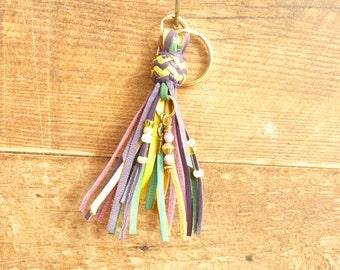 Kangaroo Leather Key Fob/Key Chain/Purse Tassel/Zipper Pull