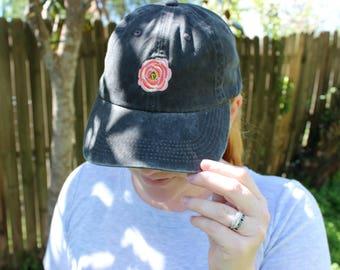 The Poppy Baseball Hat | Faded Black