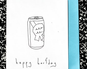 Handmade Card - Happy Barfday