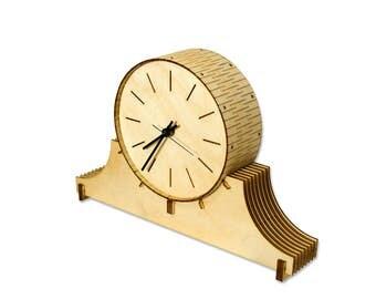 Living Hinge Birch Mantel Clock