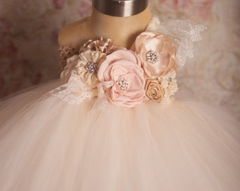 25% off storewide sale One Sweet Story Blush and Champagne Tutu Dress