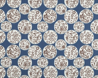 Pair of designer curtain panels drapes, Aiko regal blue Slub Canvas, rod pocket window curtains,