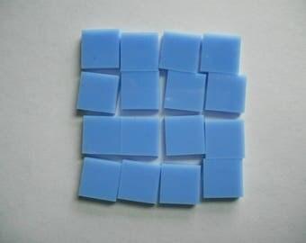"100 Pieces 1/2"" x 1/2"" Blue Opaque Stained Glass Mosaic Tiles Hand cut Blue Tile Solid Color Not Transparent Periwinkle Blue Light BLue"