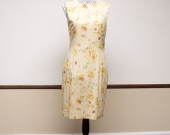 Vintage Floral Dress with jacket size 12 by Kasper A.S.L.
