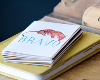 Congratulation Greeting Card - BRAVO Greeting Card - Tiger Congratulation Card
