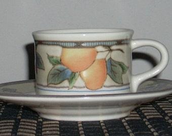 Mikasa Garden Harvest Demi-Tasse Cup and Saucer