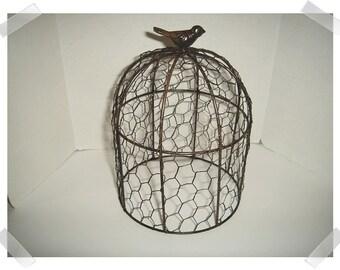 Chicken Wire Cage/Cloche/ Small Size/Home Decor/Supplies/ RESERVED for platbratt *