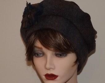 Ladies Brown Harris Tweed Hat