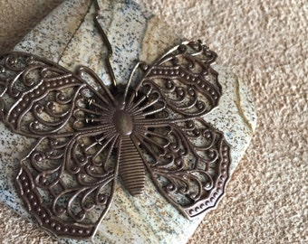 Filigree Butterfly on jasper, necklace