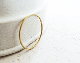 18k Gold Wedding Ring / Simple Wedding Ring / Basic Gold Ring  / Tiny Wedding Band / Delicate Wedding Ring / Basic Ring / Ring For Her