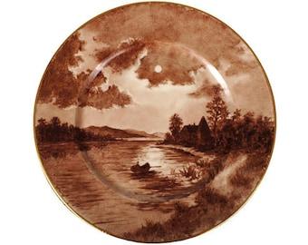 Antique Porcelain Cabinet Plate - Heinrich & Co - Selb Bavaria - Handpainted  c 1911
