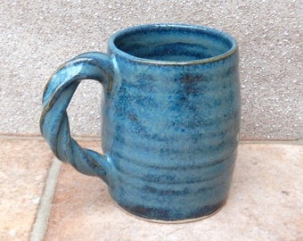 Coffee mug tea cup hand thrown stoneware pottery