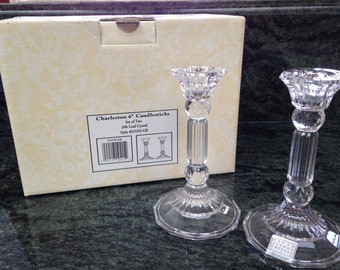 Fifth Avenue Crystal Candlesticks with Box Charleston