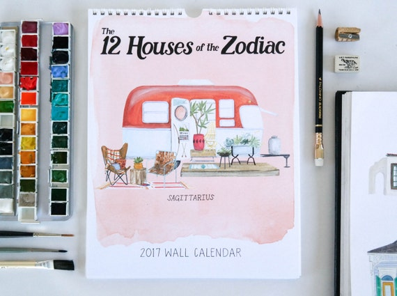 The 12 Houses of the Zodiac 2018 Wall Calendar