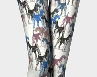 Airedale Terrier Stencils Leggings