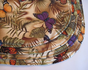 Butterfly Oval Placemats Reversible set 4-6 Brown Oval Placemats Monarch Butterfly Gift Beautiful Butterfly Placemats Butterfly Table Decor