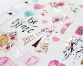 Planner Stickers 6pck gold foil Boho Daydreams
