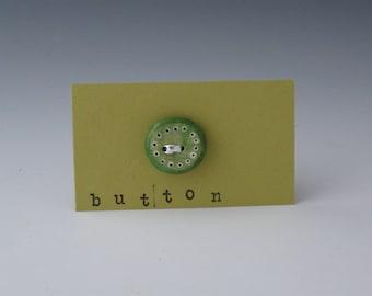 Small green ceramic button