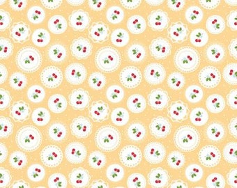Sew cherry 2 Doily Yellow by Lori Holt for Riley Blake C5802-yellow