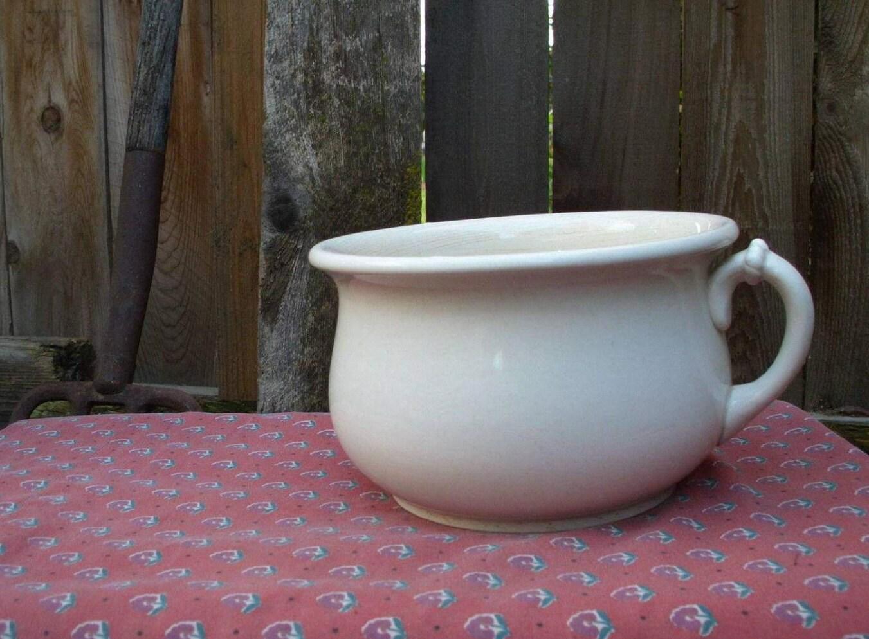 Old antique ceramic chamber pot pot de chambre potty po - Pot de chambre antique ...
