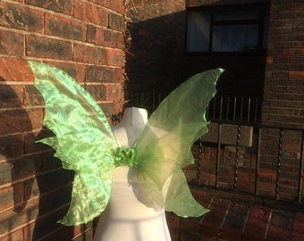 Beautiful Iridescent Realistic Green Adult Fairy Wings