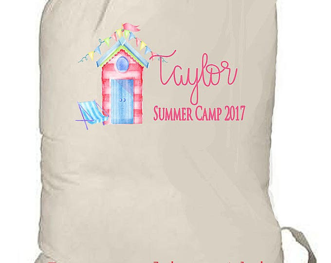 SUMMER CAMP BAG, Huge Overnight Bag, Large Laundry Bag, Beach Bag, Sleeping Bag Duffle, Children's Camp Bag, 25 x 32