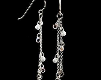 Loving in Sterling Silver -  Dangle Earring Kit or Ready Made