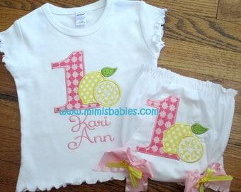 Pink Lemonade Birthday Set, Girls Lemonade Birthday Set, Pink Lemonade, Girls First Birthday Set