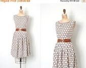 20% OFF SALE... vintage 1950s dress / cut out 50s eyelet cotton dress / Karen Kane
