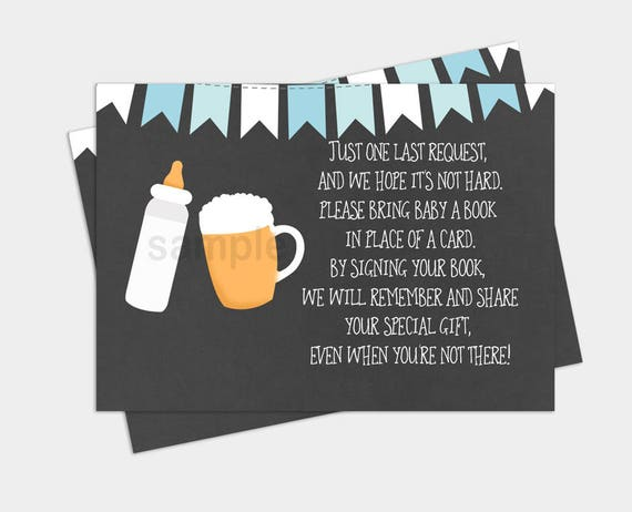 baby-q beer and bottle baby is brewing boy baby shower book, Baby shower invitations