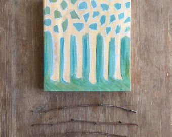 Little Birch Forest Acrylic Painting