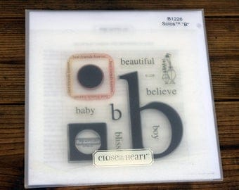 Close to My Heart Acrylic Stamp Set Solos B, B226