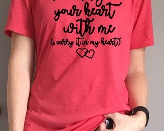 I Carry Your Heart with Me Tee - I Carry it in my Heart - e.e. cummings