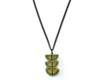 Half Circle Stacked Necklace