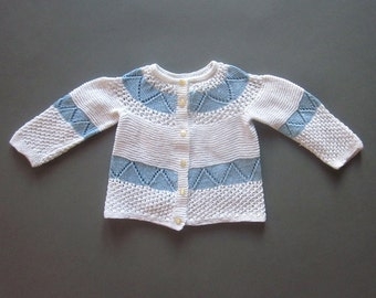 Hand knit Baby Sweater Unisex Baby Shower Gift